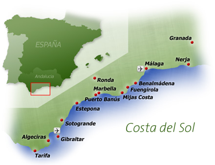 Mapa Costa del Sol