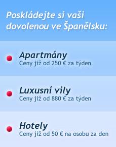 Poskládejte si vaši dovolenou ve Španělsku