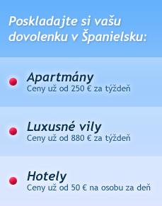 Poskladajte si vašu dovolenku v Španielsku